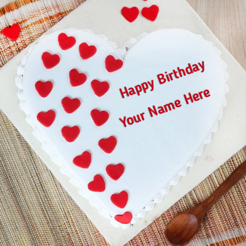 write name on Paradise Love Birthday Cake