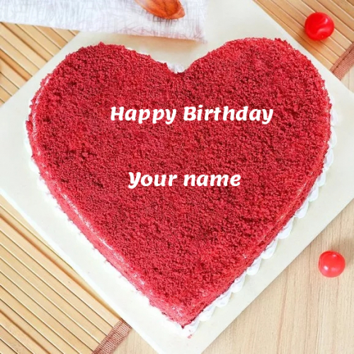 write name on Benevolent Red Velvet Birthday Cake