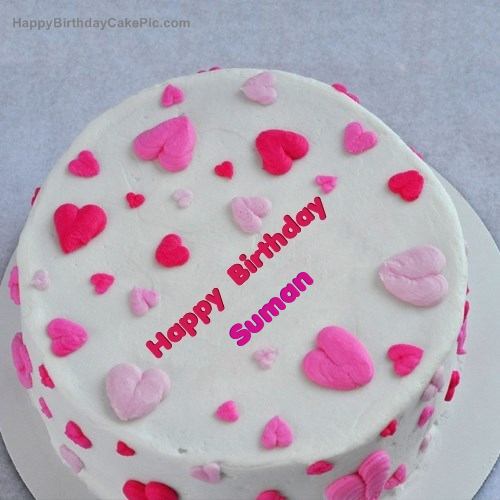 Little Hearts Birthday Cake For Suman