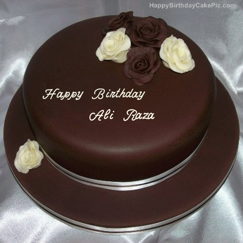 Rose Chocolate Birthday Cake For Ali Raza