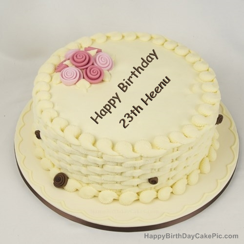Happy birthday cake for girls for 23th heenu write name on happy birthday cake for girls altavistaventures Image collections