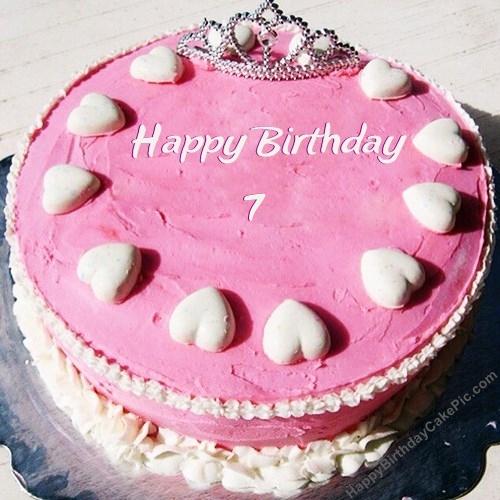Princess Birthday Cake For Girls For 7