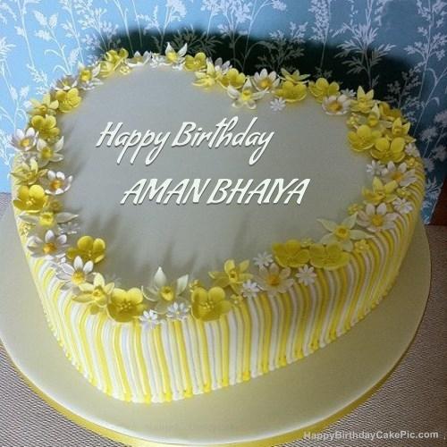 Freedom Happy Birthday Aman Bhaiya Cake Images Create birthday personalised birthday cake. happy birthday aman bhaiya cake images