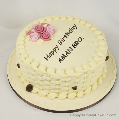 Happy Birthday Cake For Girls For Aman Bro Provides unique collection of happy birthday cake with name and photo. happy birthday cake for girls for