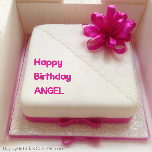 Pink Happy Birthday Cake For ANGEL