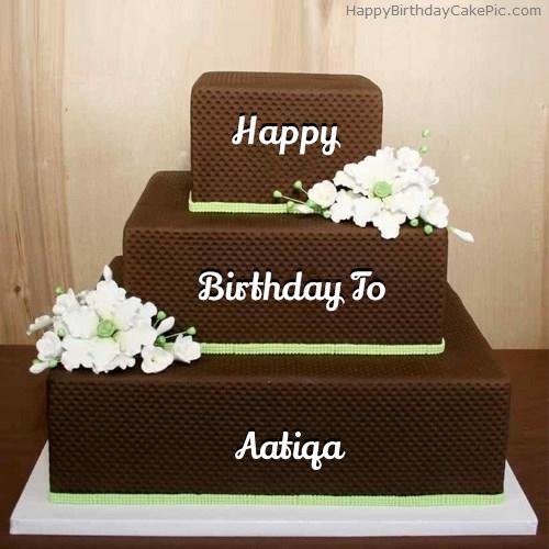 Write Name On Chocolate Shaped Birthday Cake