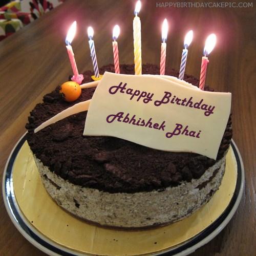 Cute Birthday Cake For Abhishek Bhai