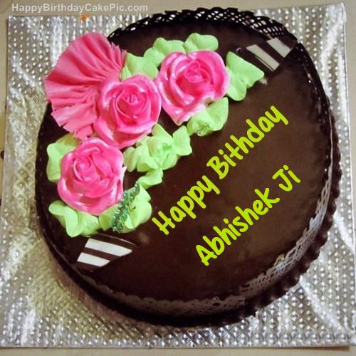 Happy Birthday Cake Image With Name Abhishek Sfb
