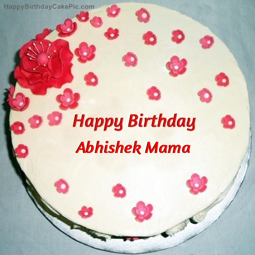 Fondant Birthday Cake For Abhishek Mama