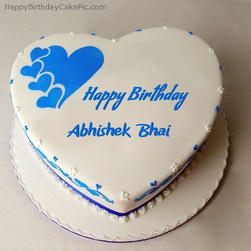 Happy Birthday Cake For Abhishek Bhai