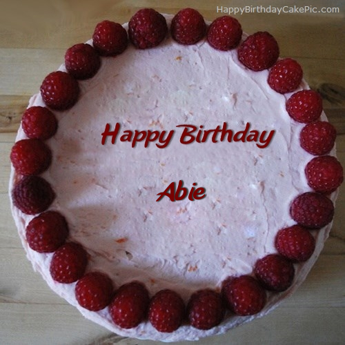 Strawberry Border Birthday Cake For Abie
