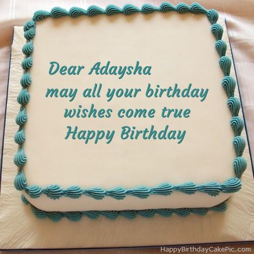 Images Of Birthday Cake With Name Shivani : Happy Birthday Cake For Adaysha