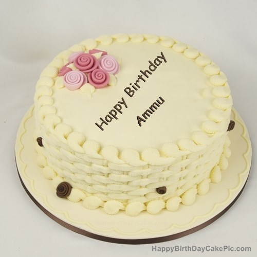 Happy Birthday Cake For Girls For Ammu