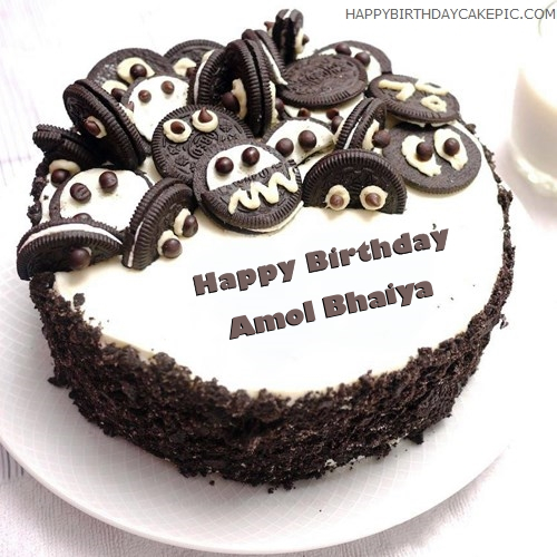 Cake Images With Name Amol : Oreo Birthday Cake For Amol Bhaiya