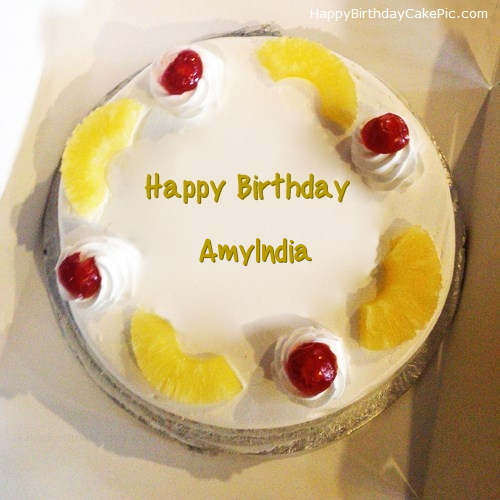 write name on Pineapple Birthday Cake