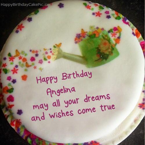Wish Birthday Cake For Angelina