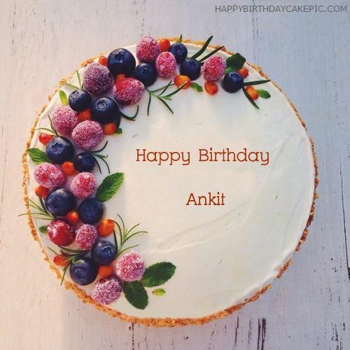 Birthday Cake With Name Ankit