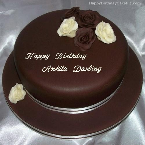 Rose Chocolate Birthday Cake For Ankita Darling