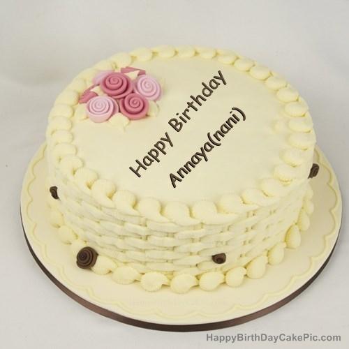Happy Birthday Cake For Girls For Annaya Nani