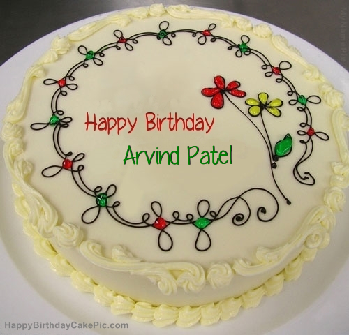 Birthday Cake Pic With Name Vivek : Birthday Cake For Arvind Patel