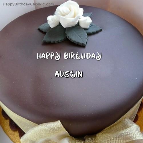 Beautiful Chocolate Birthday Cake For Austin
