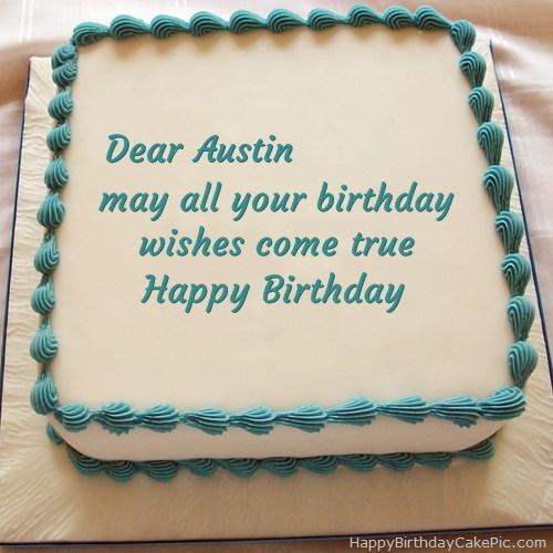 Marvelous Happy Birthday Cake For Austin Funny Birthday Cards Online Necthendildamsfinfo