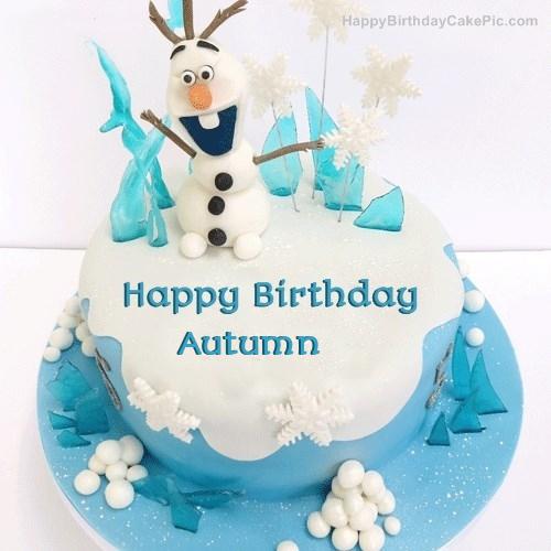 Frozen Olaf Birthday Cake For Autumn