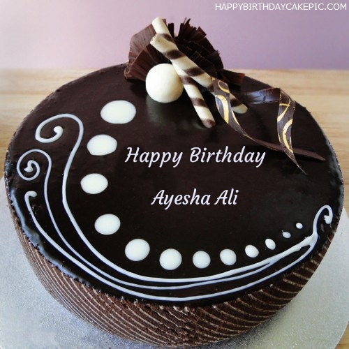 Birthday Cake Pics With Name Ayesha Image Diyimages Co