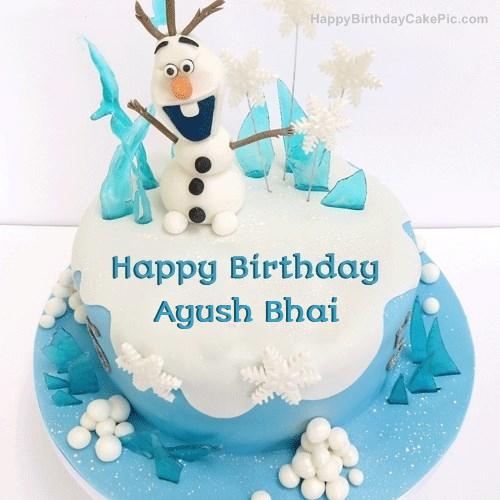 Frozen Olaf Birthday Cake For Ayush Bhai