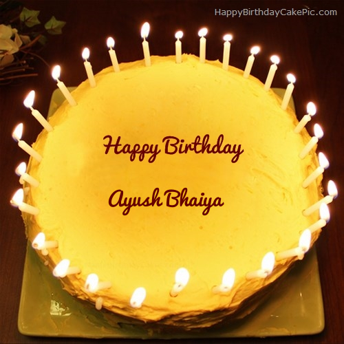 Candles Birthday Cake For Ayush Bhaiya