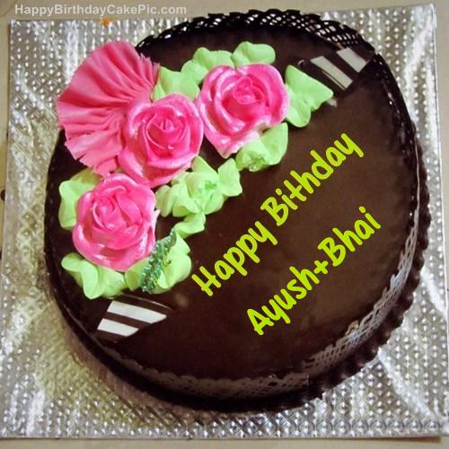 Chocolate Birthday Cake For Ayush Bhai