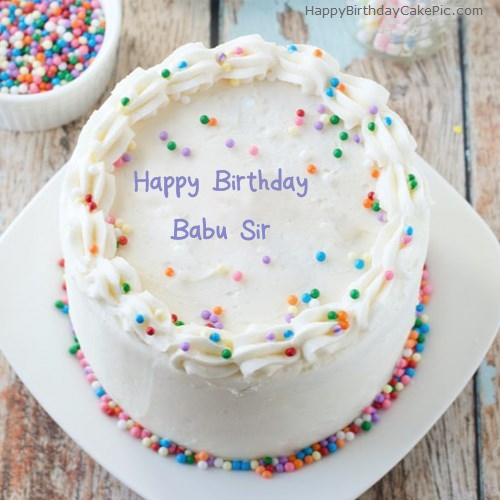 Sprinkle Birthday Cake For Babu Sir