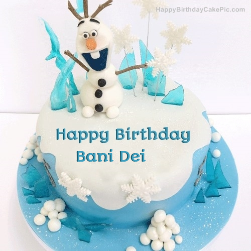 Peachy Frozen Olaf Birthday Cake For Bani Dei Funny Birthday Cards Online Alyptdamsfinfo