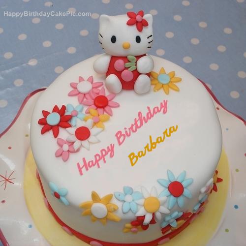 Hello Kitty Birthday Cake For Barbara - Birthday cake barbara