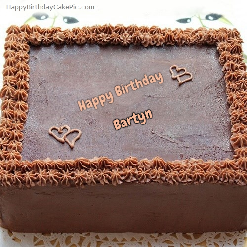 write name on Square Chocolate Cake