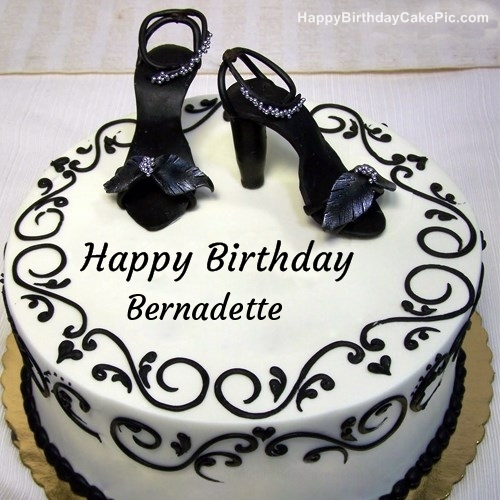 Fashion Happy Birthday Cake For Bernadette