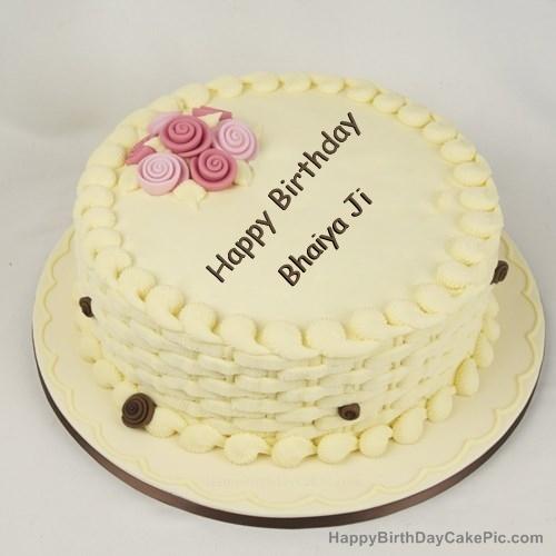 Happy Birthday Bhaiya Cake Pic Archidev