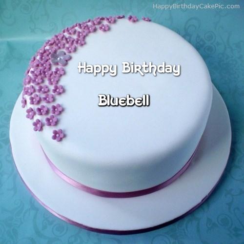 Fine Ice Cream Birthday Cake For Bluebell Personalised Birthday Cards Veneteletsinfo