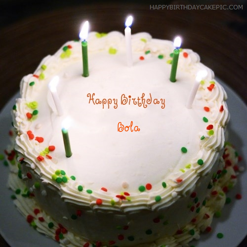Birthday Cake With Candles For Bola