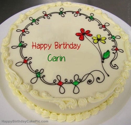 Birthday Cake Images With Name Krishna : Birthday Cake For Carin