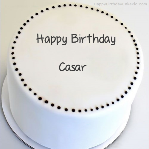 write name on Simple Round Cake