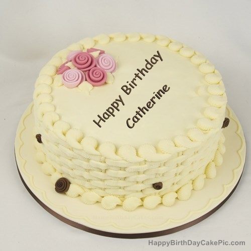Happy Birthday Cake for Girls For Catherine