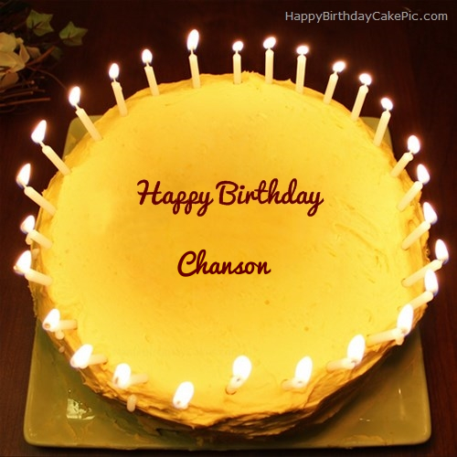Candles Birthday Cake For Chanson