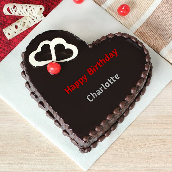 write name on Heartbeat Chocolate Birthday Cake