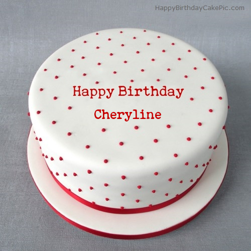 Cake Images With Name Rohit : Polka Birthday Cake For Cheryline