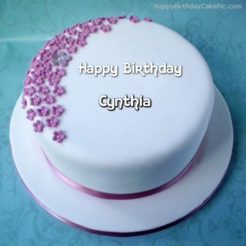 Happy Birthday Cynthia Cake