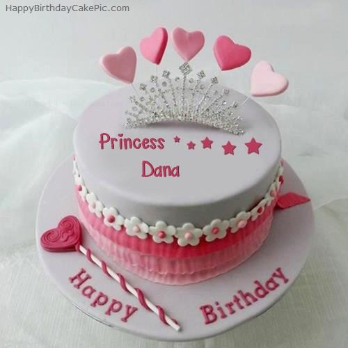 Princess Birthday Cake With Name