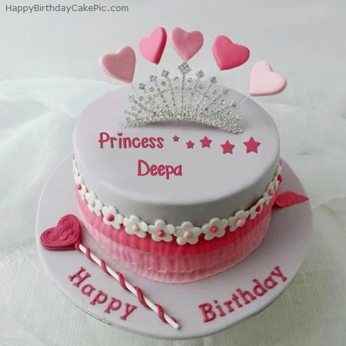 Birthday Cake Images With Name Deepa : Princess Birthday Cake For Deepa