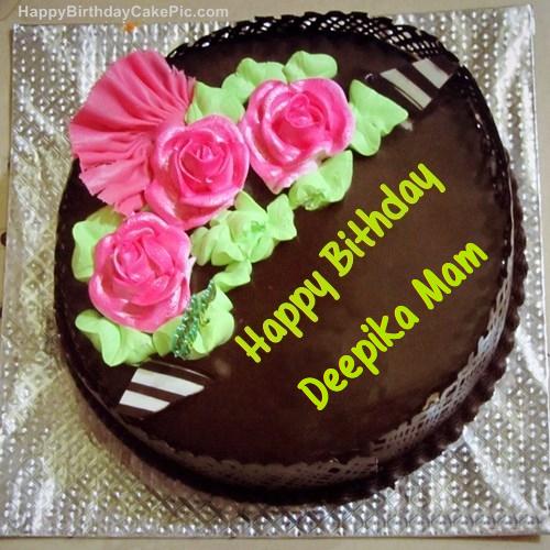 Chocolate Birthday Cake For Deepika Mam