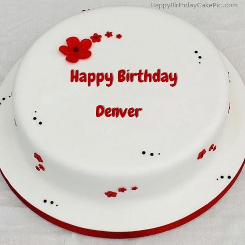 Simple Birthday Cake For Denver